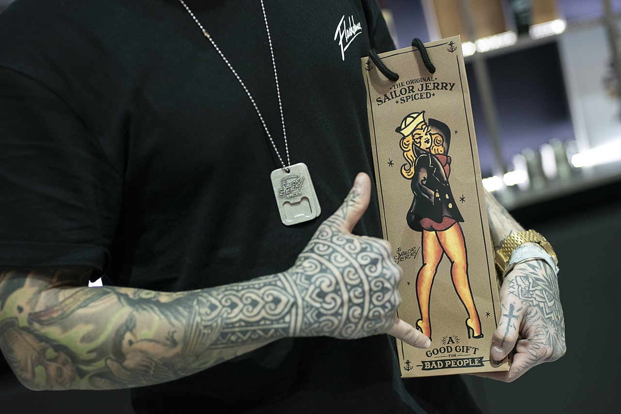 Amvyx Sailor Jerry at Athens Tattoo Expo