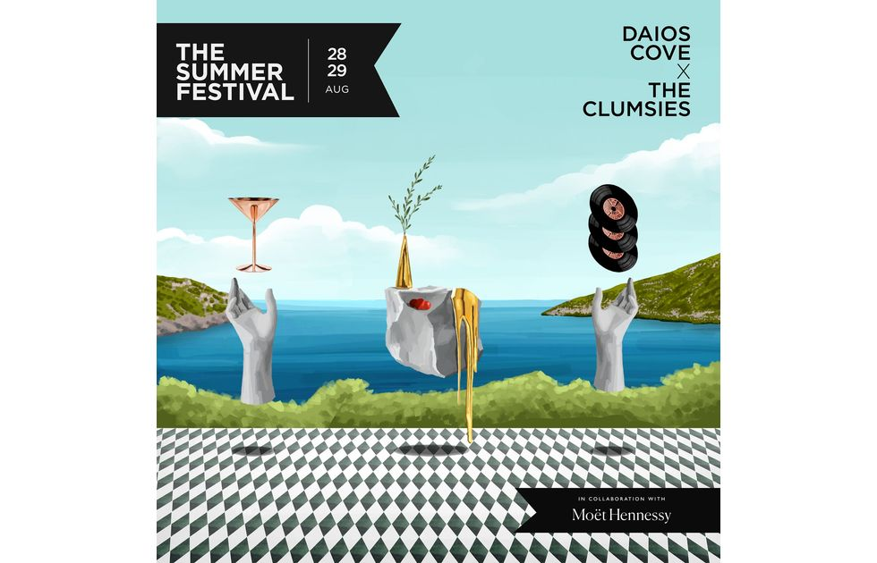Amvyx Daios Cove x The Clumsies The Summer Festival σε συνεργασία με τη Moët Hennessy