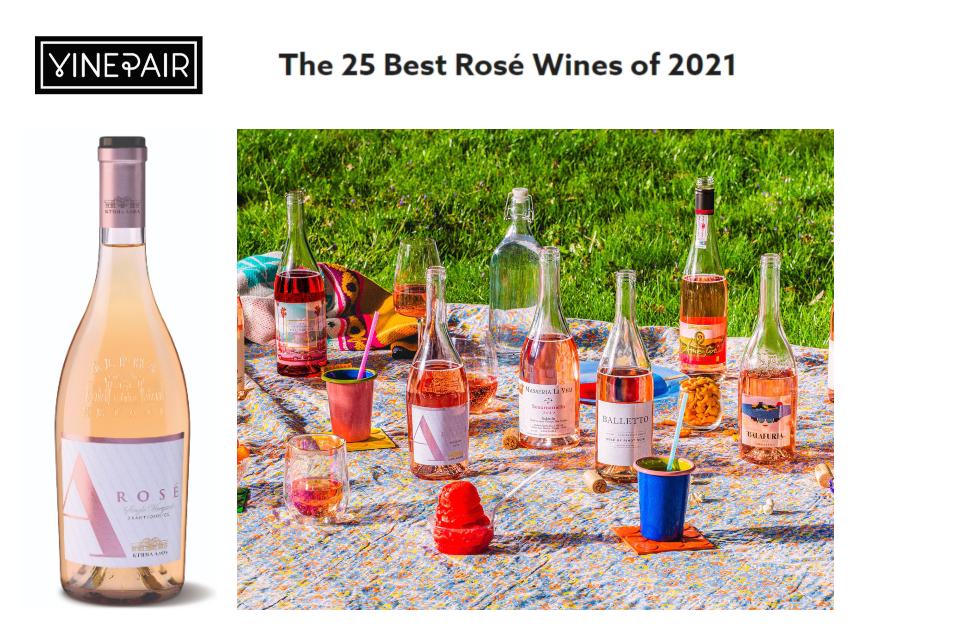 Amvyx Το Κτήμα Άλφα Ροζέ 2020 στα 25 καλύτερα ροζέ κρασιά του κόσμου για το 2021.
