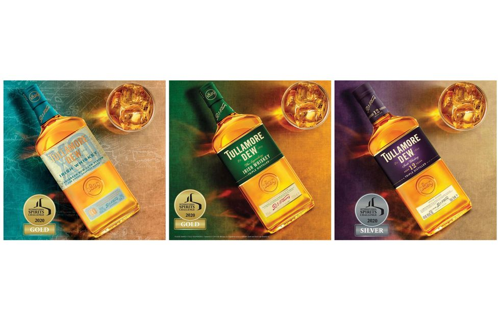 Amvyx Tullamore D.E.W. Take Home Five Gold Medals At This Year's International Spirits Challenge.