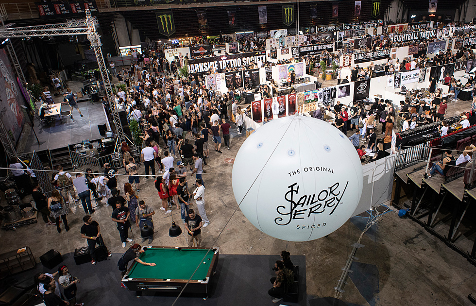 Amvyx Sailor Jerry at Athens Tattoo Convention